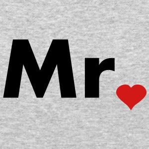 Mr with heart dot - part of Mr and Mrs set Long Sleeve Shirts - Crewneck Sweatshirt