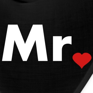 Mr with heart dot - part of Mr and Mrs set Caps - Bandana