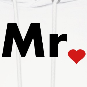 Mr with heart dot - part of Mr and Mrs set Hoodies - Men's Hoodie