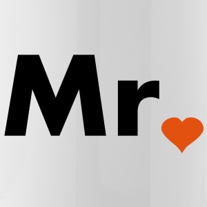 Mr with heart dot - part of Mr and Mrs set Bottles & Mugs - Water Bottle