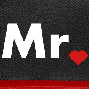 Mr with heart dot - part of Mr and Mrs set Caps - Snap-back Baseball Cap
