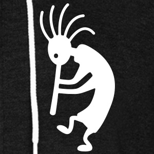 kokopelli Zip Hoodies/Jackets - Unisex Fleece Zip Hoodie by American Apparel