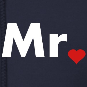 Mr with heart dot - part of Mr and Mrs set Zip Hoodies/Jackets - Men's Zip Hoodie