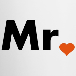 Mr with heart dot - part of Mr and Mrs set Bottles & Mugs - Coffee/Tea Mug