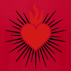 Sacred Heart - High Heart Chakra  T-Shirts - Men's T-Shirt by American Apparel