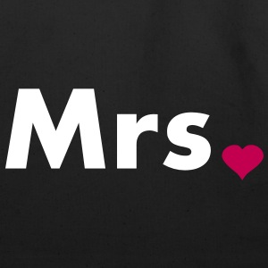 Mrs with heart dot - part of Mr and Mrs set Bags  - Eco-Friendly Cotton Tote