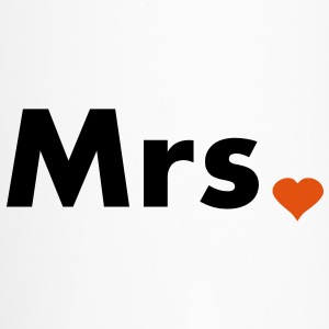 Mrs with heart dot - part of Mr and Mrs set Bottles & Mugs - Travel Mug