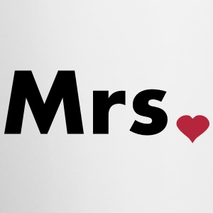 Mrs with heart dot - part of Mr and Mrs set Bottles & Mugs - Coffee/Tea Mug