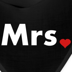 Mrs with heart dot - part of Mr and Mrs set Caps - Bandana