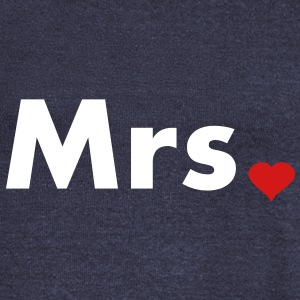 Mrs with heart dot - part of Mr and Mrs set Long Sleeve Shirts - Women's Wideneck Sweatshirt