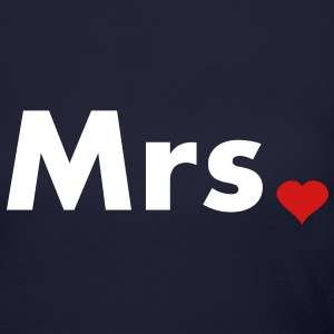 Mrs with heart dot - part of Mr and Mrs set Long Sleeve Shirts - Women's Long Sleeve Jersey T-Shirt