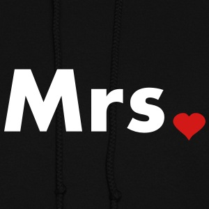 Mrs with heart dot - part of Mr and Mrs set Hoodies - Women's Hoodie