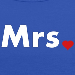 Mrs with heart dot - part of Mr and Mrs set Tanks - Women's Flowy Tank Top by Bella