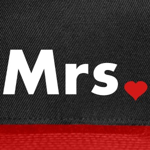 Mrs with heart dot - part of Mr and Mrs set Caps - Snap-back Baseball Cap