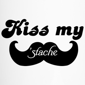 Kiss my Stache Bottles & Mugs - Travel Mug