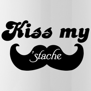 Kiss my Stache Bottles & Mugs - Water Bottle
