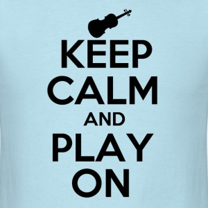 Keep Calm Violin - Men's T-Shirt