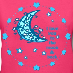blue moon woman's tshirt