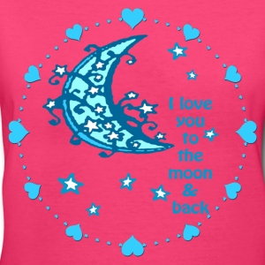 blue moon woman's tshirt - Women's V-Neck T-Shirt