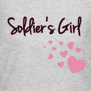 Soldier's Girl with Hearts - Women's Long Sleeve Jersey T-Shirt