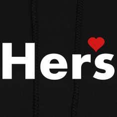 Hers - part of his and hers set Hoodies