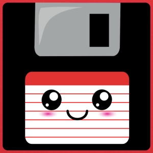 Cute Floppy Disk (red) Sweatshirts - Kids' Hoodie