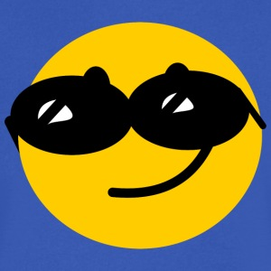 Flirty Cool Smiley face with sunglasses T-Shirts - Men's V-Neck T-Shirt by Canvas