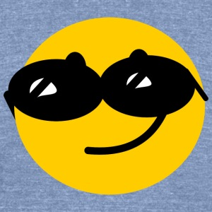 Flirty Cool Smiley face with sunglasses T-Shirts - Unisex Tri-Blend T-Shirt by American Apparel