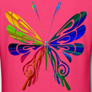 Rainbow Butterfly - Women's V-Neck T-Shirt