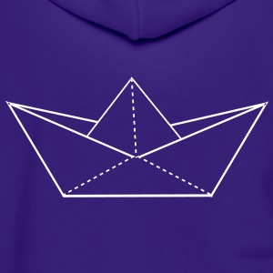 paper boat Zip Hoodies/Jackets - Unisex Fleece Zip Hoodie by American Apparel