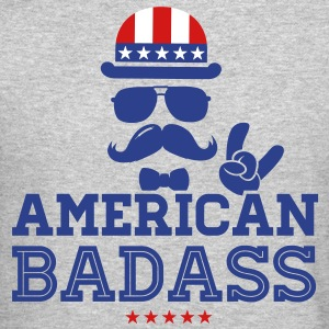Like a USA love America American flag Badass boss Long Sleeve Shirts - Crewneck Sweatshirt