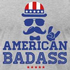 Like a USA love America American flag Badass boss T-Shirts