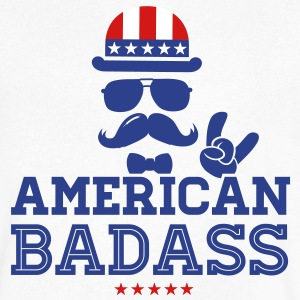Like a USA love America American flag Badass boss T-Shirts - Men's V-Neck T-Shirt by Canvas