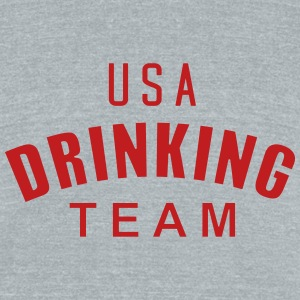 USA Drinking Team T-Shirts - Unisex Tri-Blend T-Shirt by American Apparel