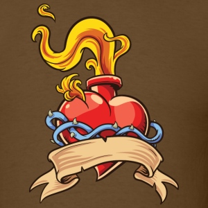 Flaming heart - Men's T-Shirt