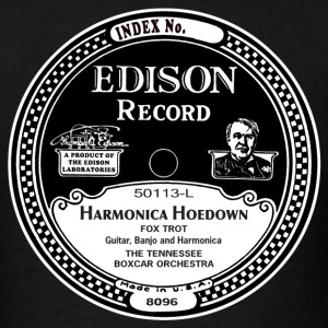 Edison Record Label Harmonica Hoedown shirt - Men's T-Shirt