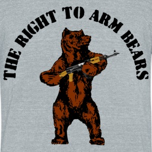The right to arm bears - Unisex Tri-Blend T-Shirt