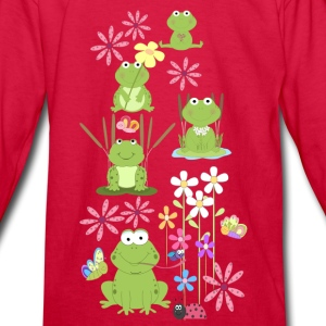 frogs and flowers  - Kids' Long Sleeve T-Shirt