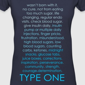 The Inspire Collection - Type One - Blue Women's T-Shirts - Women's V-Neck T-Shirt