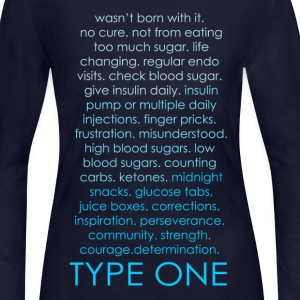 The Inspire Collection - Type One - Blue Long Sleeve Shirts - Women's Long Sleeve Jersey T-Shirt