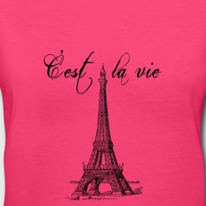 C'est la vie Eiffel Tower - Women's V-Neck T-Shirt