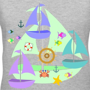 sailboats - Women's V-Neck T-Shirt