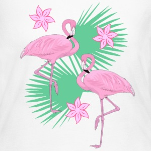 tropical flamingos - Women's Long Sleeve Jersey T-Shirt