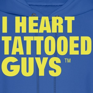 I HEART TATTOOED GUYS Hoodies - Men's Hoodie