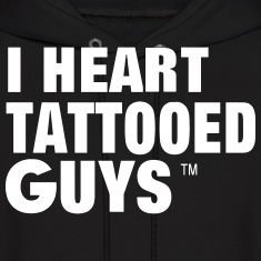 I HEART TATTOOED GUYS Hoodies