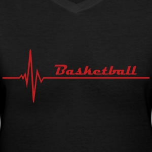 basketball Women's T-Shirts - Women's V-Neck T-Shirt