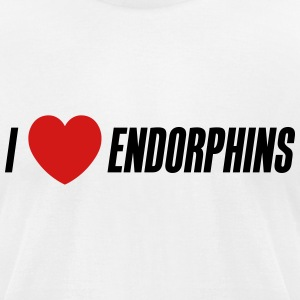I love endorphins - Men's T-Shirt by American Apparel