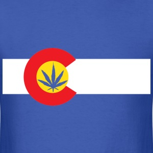 Colorado Marijuana Flag T-Shirt - Men's T-Shirt