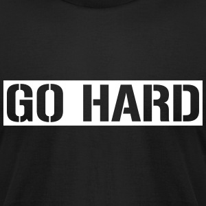 Go hard - Men's T-Shirt by American Apparel