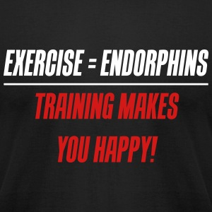 Exercise = Endorphins - Training makes you happy! - Men's T-Shirt by American Apparel